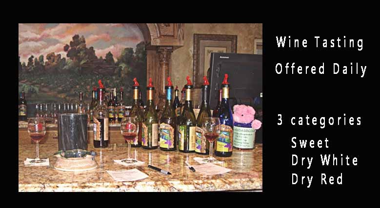 Wine Tasting offered daily